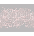 Lace seamless horizontal ribbon White with pink vector image