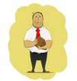 Office worker standing with bag vector image