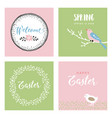 set of hand drawn easter greeting cards vector image