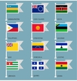 Flags set four-16 vector image