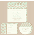 vintage wedding invitations set vector image vector image