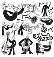 jazz musicians symbols vector image
