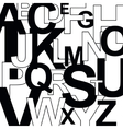 Pattern with letters vector image