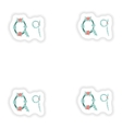 stiker Abstract letter Q logo icon in Blue vector image