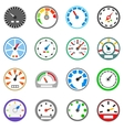 Speedometer icons set simple style vector image