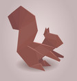 a paper origami squirrel vector image