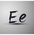 calligraphic hand-drawn marker or ink letter E vector image