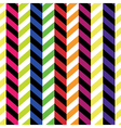colorful chevron pattern seamless background vector image