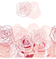 Floral background with pink roses vector image