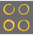 Grunge golden circle border set vector image