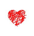 heart brush vector image