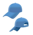 Realistic Blue Baseball Cap Set vector image