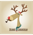 Reindeer Merry Christmas Card vector image
