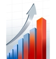 Silver growth arrow vector image