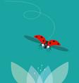 the ladybug flies vector image