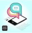 Universal design smartphone vector image
