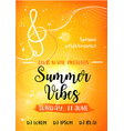 summer vibes card vector image
