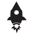 Rocket icon on white background flat style vector image