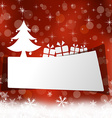 winter card with gift box and snowflake vector image vector image