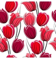 seamless pattern with tulips vector image vector image