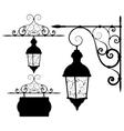 Street lantern vector image