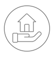 House insurance line icon vector image vector image