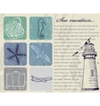 Vintage set of sea travel icons vector image