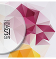Colorful abstract design template vector image