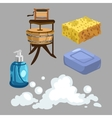 Accessories for washing and showering vector image
