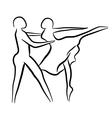 Couple dancing sketch concept vector image
