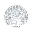 finance thin line concept vector image