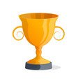 golden trophy cup isolated icon vector image