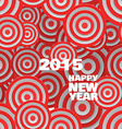 Happy 2015 new year on abstract round background vector image