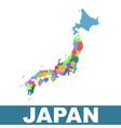 japan administrative map flat vector image