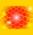orange hexagon circle and light abstract vector image