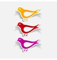 realistic design element bird vector image