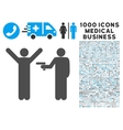 Crime Robbery Icon with 1000 Medical Business vector image