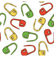 seamless pattern with locking stitch markers vector image