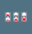 Three Step Of Hourglass Flat Design vector image