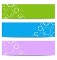 Set of color banners with white circles vector image