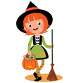 Halloween witch on a white background vector image vector image