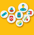 set colorful medical icons for web design - vector image vector image