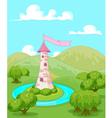 Fairytale tower vector image