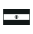 Flag of Paraguay monochrome on white background vector image