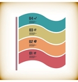 Modern ribbon infographic template vector image