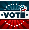 patriotic voting poster vector image