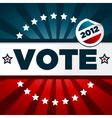 patriotic voting poster vector image
