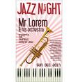 poster jazz festival trumpet 2 vector image
