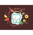 Tooth abstract design flat vector image