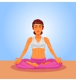 a girl yoga in the lotus vector image